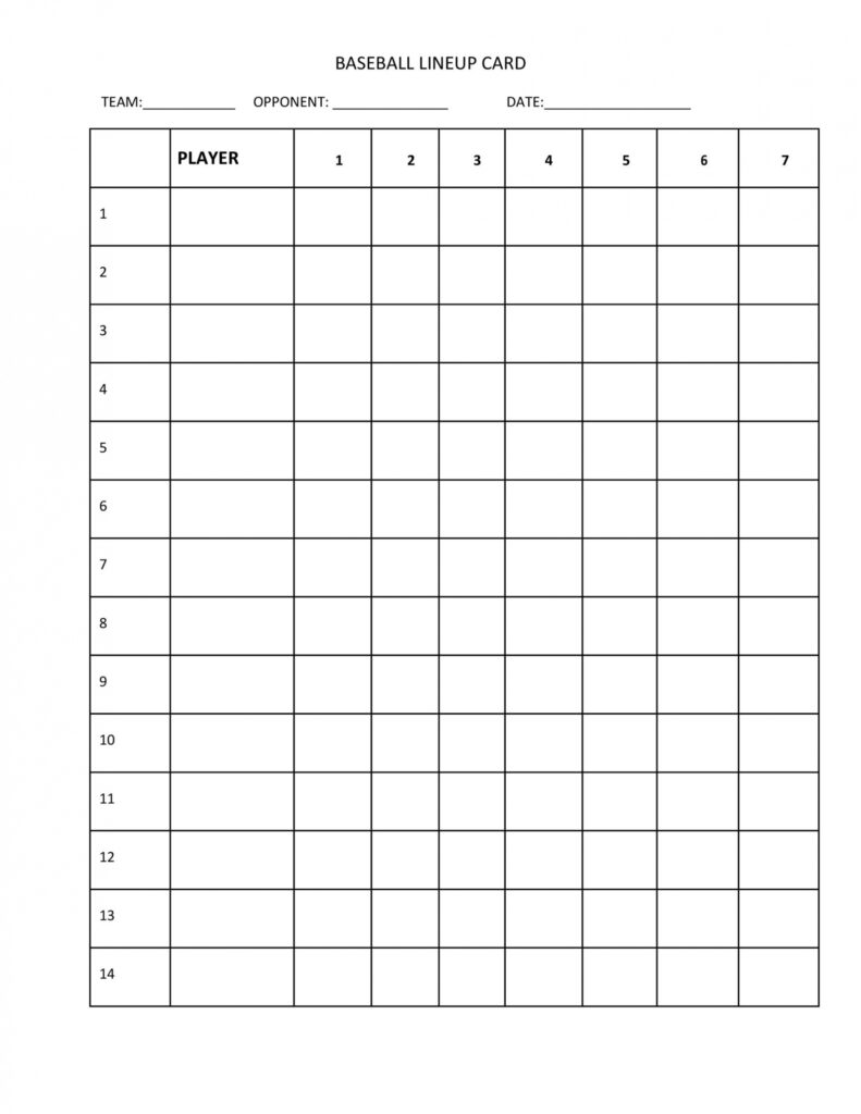 Business Professional Template Ideas - Page 22 of 22 - The Best of Inside Baseball Lineup Card Template